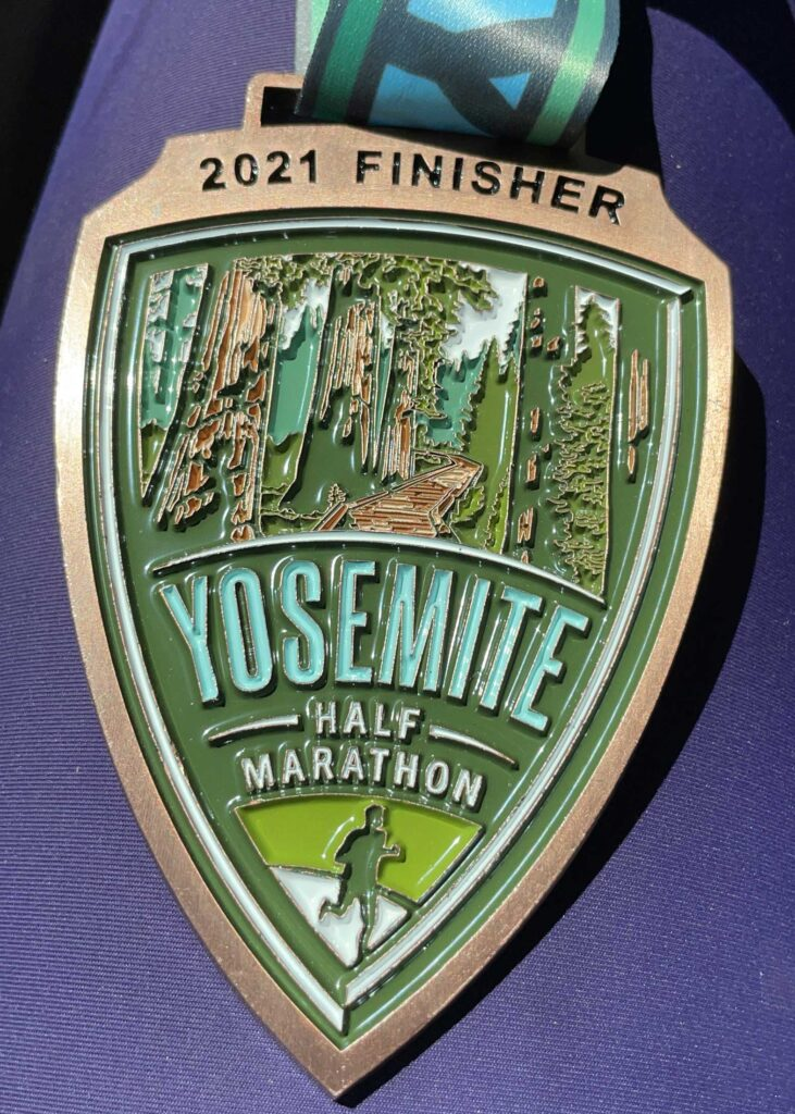 finisher medal yosemite half marathon